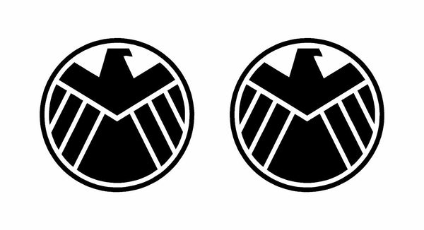 Agents of Shield Marvel Vinyl Decals Car Window Laptop Stickers Set of 2