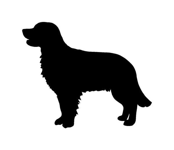Golden Retriever Vinyl Decal Car Window Laptop Dog Silhouette Sticker