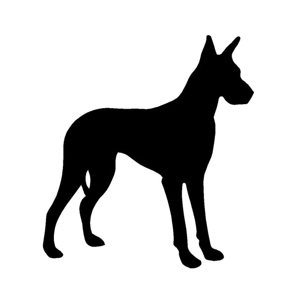 Great Dane Vinyl Decal Car Window Laptop Dog Breed Silhouette Sticker