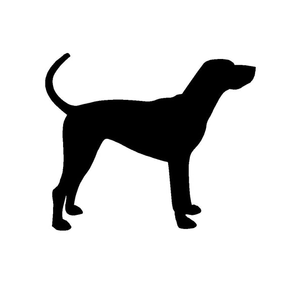 Hound Silhouette Vinyl Decal Coonhound Car Window Laptop Sticker