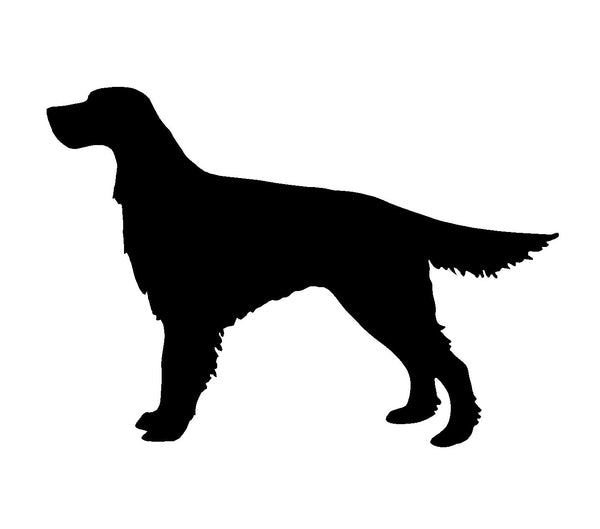 Irish Setter Vinyl Decal Car Window Laptop Red Setter Dog Silhouette Sticker