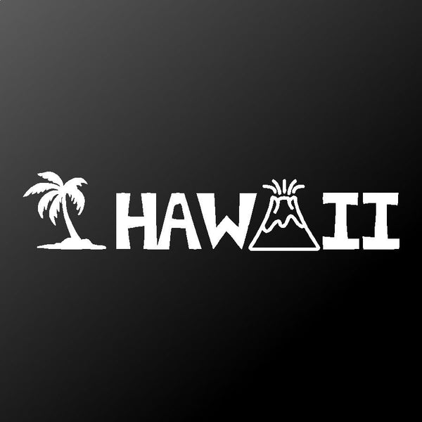 Hawaii Vinyl Decal Car Window Laptop Hawaiian name Sticker