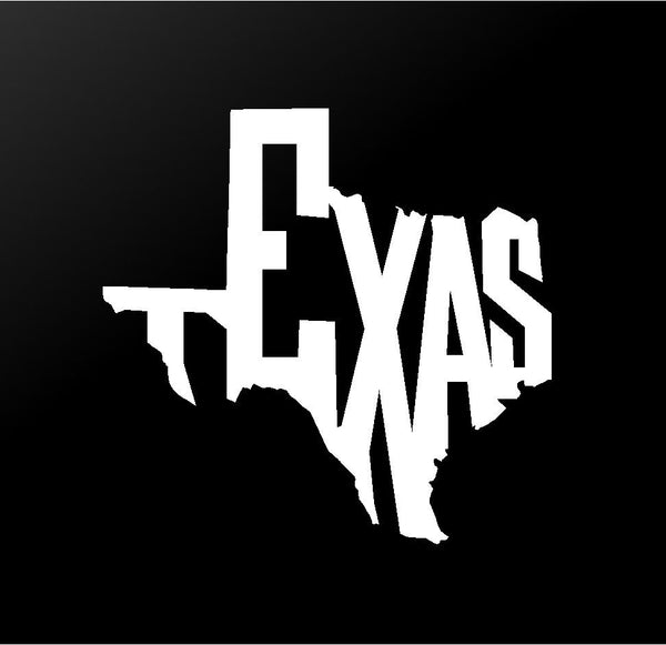 Texas State Outline Vinyl Decal Car Window Laptop Sticker