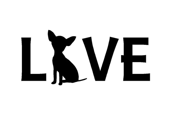 Chihuahua Love Vinyl Decal Car Window Laptop Sticker