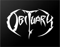 Obituary Death Metal Band Vinyl Decal Guitar Laptop Car Window Sticker