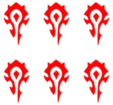 Small Horde symbol phone laptop Decal Sticker World of Warcraft WoW set of 6
