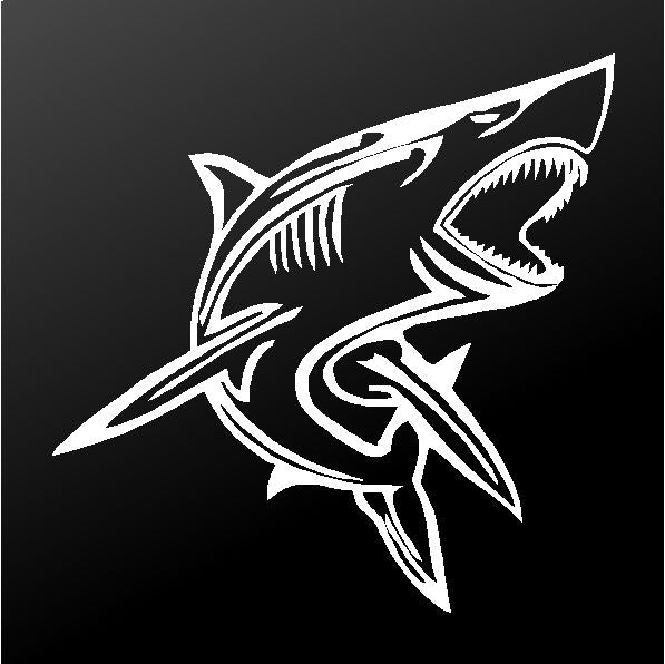 Tribal Shark Vinyl Decal Car Truck Boat Window Body Sticker