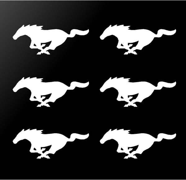 6 Ford Mustang Vinyl Decals Gt Horse Pony Logo Small 2 Stickers