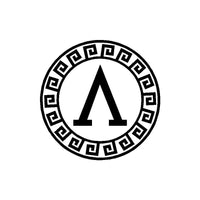 Lambda Shield Vinyl Decal Spartan Λ Symbol  Car Window Laptop Sticker