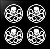 "4 Hydra Logo Marvel Symbol Vinyl Decals 2"" Stickers"