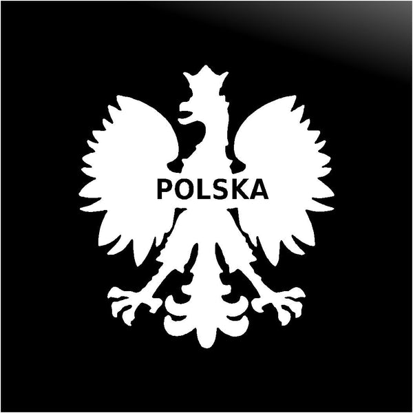 Polish Eagle Vinyl Decal Car Window Laptop Poland POLSKA Sticker