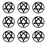 small Him Heartagram Sticker Decal Music Band Laptop Phone Stickers Sheet of 9