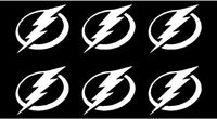 Small Tampa Bay Lightning Vinyl Decals Phone Sports Small Stickers Set of 6