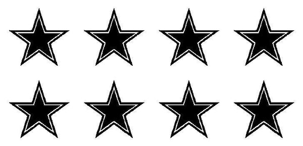 Dallas Cowboys Vinyl Decals Phone laptop Sports Small Stickers Set of 8