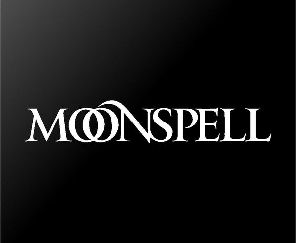 Moonspell Vinyl Decal Car Window Laptop Gothic Metal Band Logo Sticker