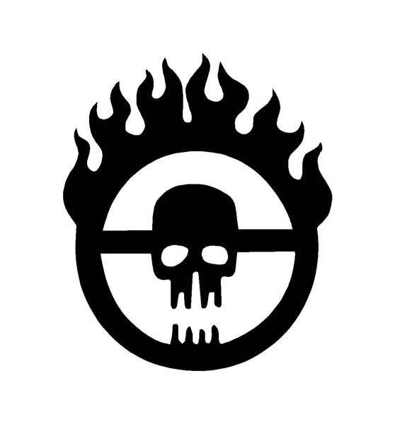Mad Max Fury Road Skull Logo Vinyl Decal Car Window Laptop Sticker