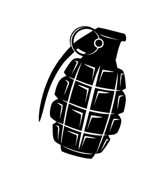 MK 2 Hand Grenade Vinyl Decal Car Truck Window Laptop Pineapple Grenade Sticker