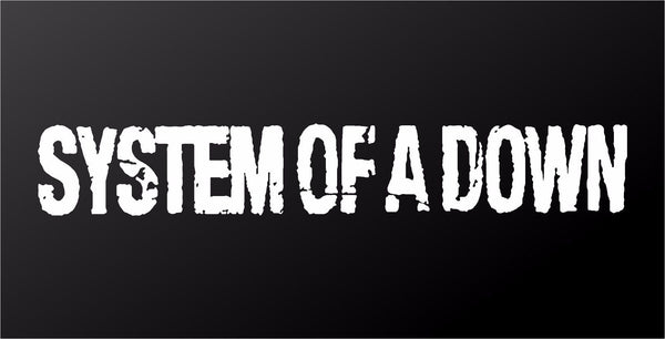 System of a Down SOAD Metal Band Vinyl Decal Laptop Guitar Car Window Sticker