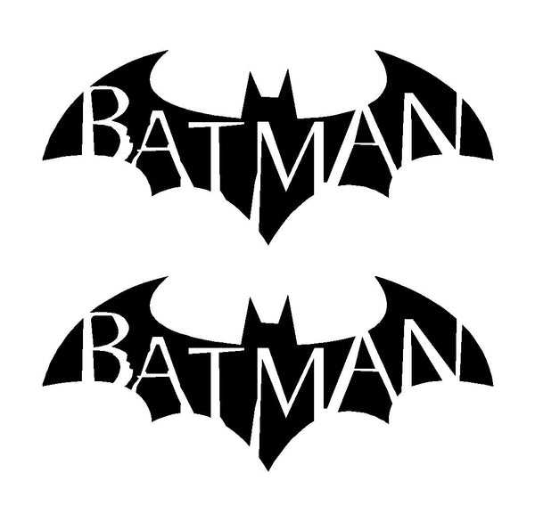 2 Batman Symbol Arkham City Asylum Gotham Vinyl Decals Car Laptop Stickers