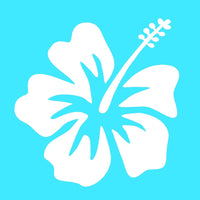 "Hibiscus Vinyl Decal Hawaiian Aloha Surf Flower Car Window Laptop 4"" Sticker"