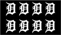 Detroit Tigers team Vinyl Decals Phone Detroit Tigers Small Stickers Set of 8