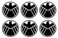 SHIELD Marvel's Agents of S.H.I.E.L.D. Set of 6 Vinyl Decals Stickers 1.5""