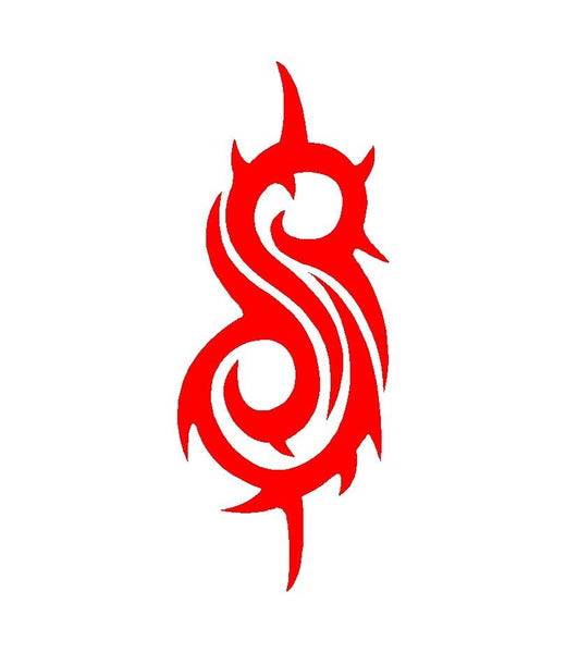 Slipknot S Logo Vinyl Decal Car Window Laptop Guitar Sticker Kandy