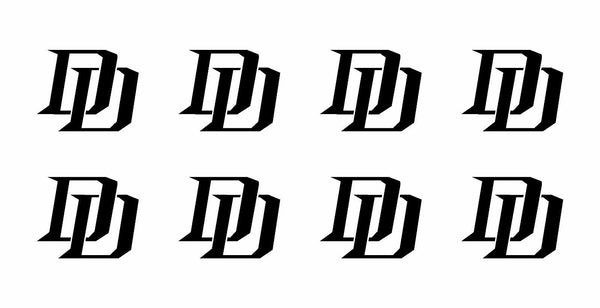 "8 Daredevil Marvel DD Logo Vinyl Decals Phone Laptop Helmet 1.5"" Stickers"