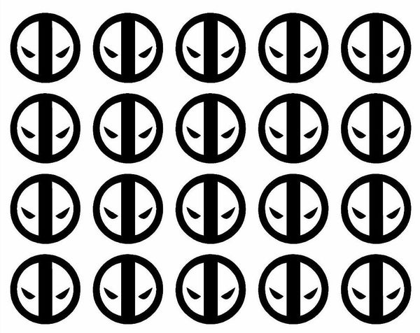 20 Deadpool Kills the Universe Small Vinyl Decals Phone Laptop Helmet Stickers