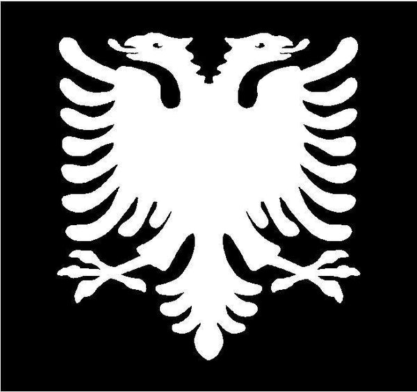 Albanian Eagle Vinyl Decal Car Window Laptop Albanian Coat of Arms Sticker