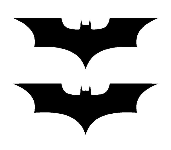 2 Batman Dark Knight Symbol Vinyl Decals Car Window Laptop Stickers