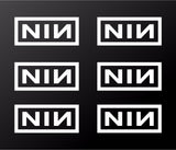 "Nine Inch Nails Small 2"" NIN Vinyl Decals Laptop Helmet Phone Stickers Set of 6"