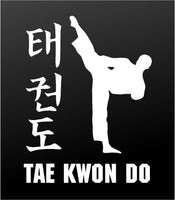 Tae Kwon Do Martial Arts Vinyl Decal Custom Personalized Car Window Sticker