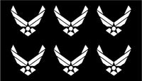 Small US Air Force Vinyl Decal Car Phone Window Laptop USAF Sticker