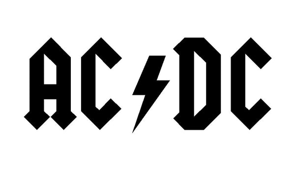 AC/DC Vinyl Decal Car Window Laptop Guitar ACDC Band Malcolm Young Sticker