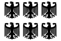Small German Eagle set of 6 Vinyl Decals Phone German Eagle Stickers Sheet
