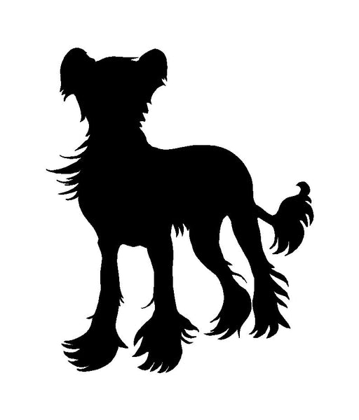 Chinese Crested Vinyl Decal Car Window Laptop Dog Breed Sticker