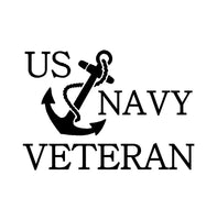 US Navy Veteran Vinyl Decal Car Truck Window Laptop Sticker