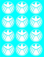 SHIELD Marvel's Agents of S.H.I.E.L.D. Set of 12 Vinyl Decals Stickers 1.5""