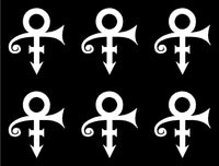 small Prince Logo Decal Laptop Phone Stickers Sheet of 6
