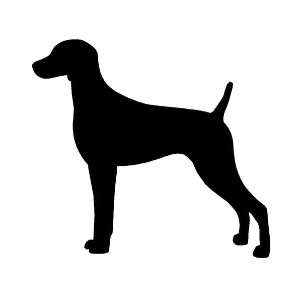 Weimaraner Vinyl Decal Car Window Laptop Dog Breed Silhouette Sticker