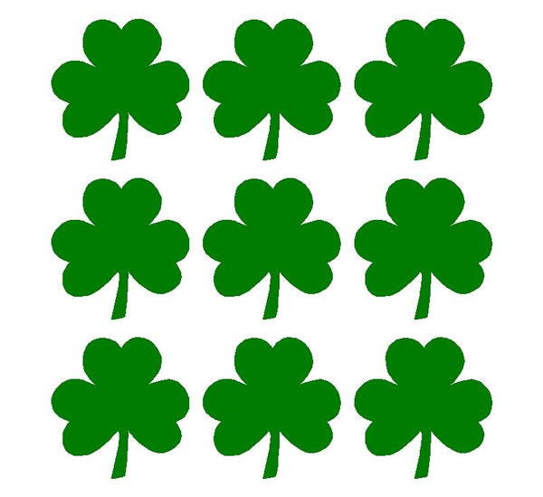 "Irish Shamrock 1"" Decals Vinyl Green Clover Small Phone Laptop Helmet Stickers"