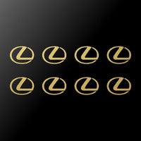 "8 Lexus L Emblem Logo Vinyl Decals Phone Mirror Laptop Small 1.5"" Stickers"