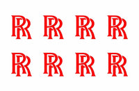 "Rolls Royce Logo Vinyl Decals Phone Laptop Dash Small 1"" Stickers Set of 8"