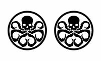 2 Hydra Marvel Symbol Vinyl Decals Car Window Laptop Stickers