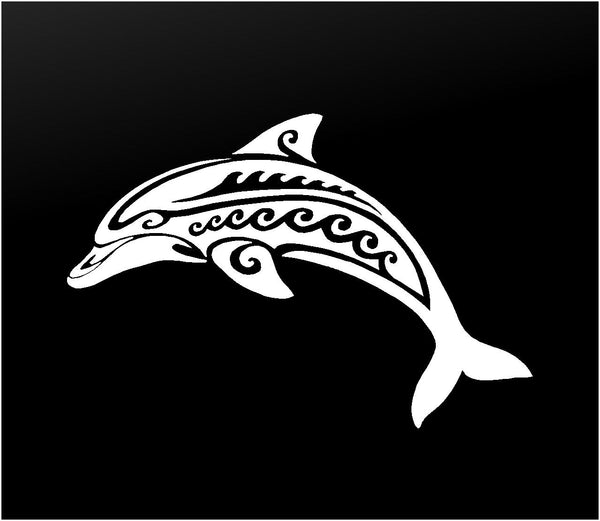 Tribal Dolphin Vinyl Decal Car Window Laptop Sticker