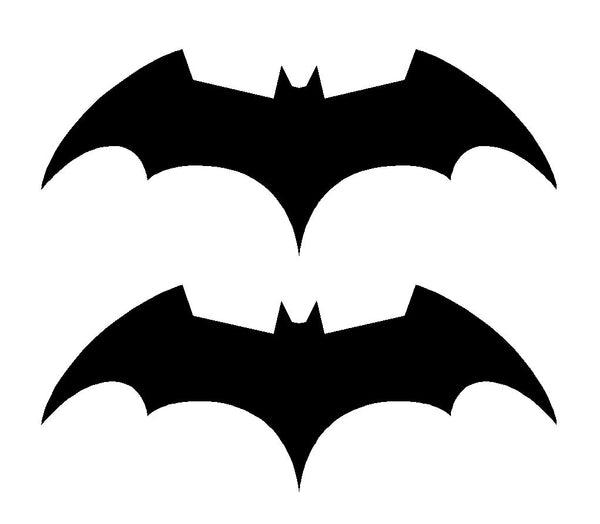 2 Batman Begins Symbol Vinyl Decals Car Window Bike Laptop Stickers
