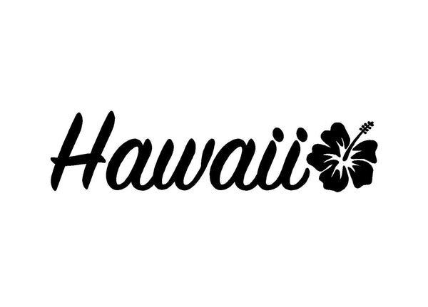 Hawaii Hibiscus Vinyl Decal Car Window Laptop Surf Sticker