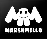 Marshmello EDM House Music DJ Logo Vinyl Decal Laptop Speaker Car Window Sticker