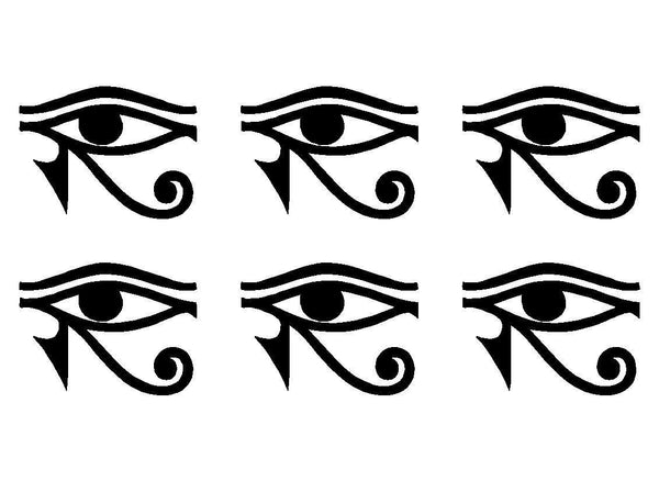 Small EYE OF RA HORUS Egyptian God Quote Vinyl Decal Phone sticker set of 6